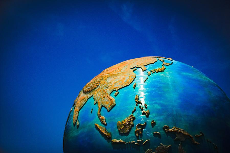 フリー写真 地球の模型