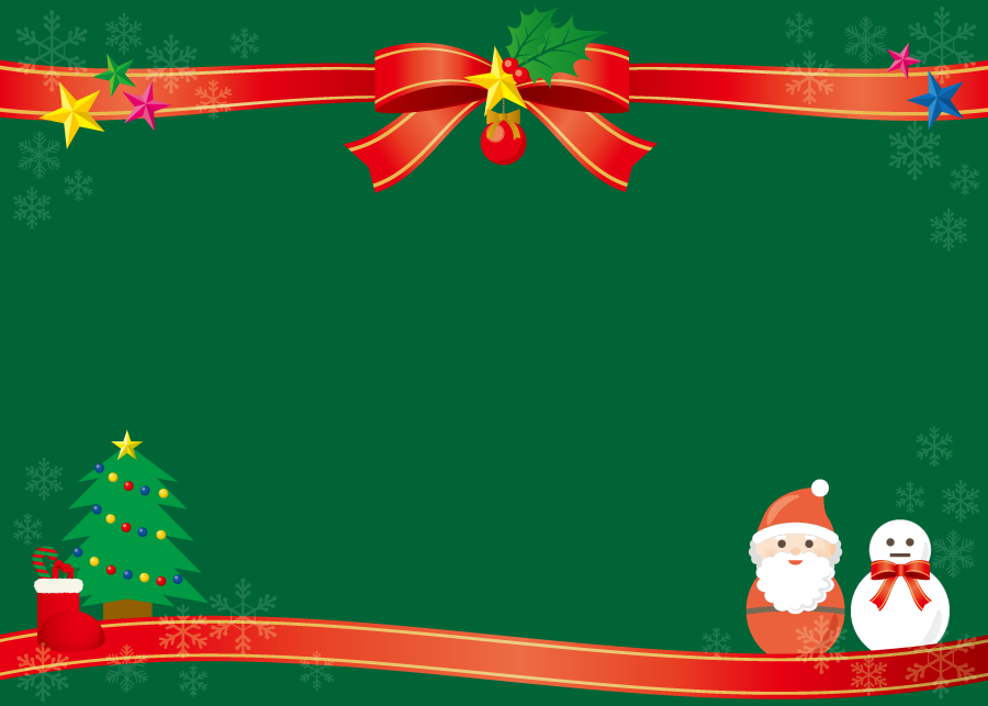 フリーイラスト クリスマスの飾り枠