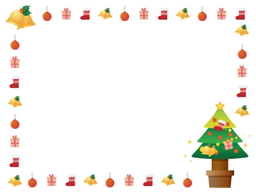フリーイラスト クリスマスのフレーム