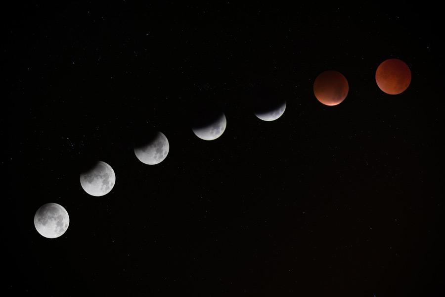 フリー写真 皆既月食