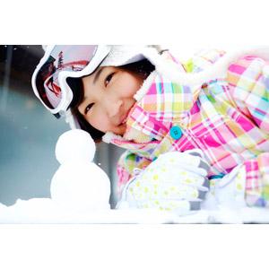 フリー写真, 人物, 女性, アジア人女性, 日本人, 女性(00043), 雪だるま, 冬, スノーゴーグル