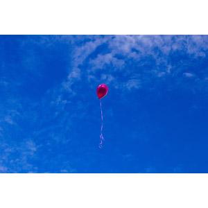 フリー写真, 風景, 空, 青空, 風船