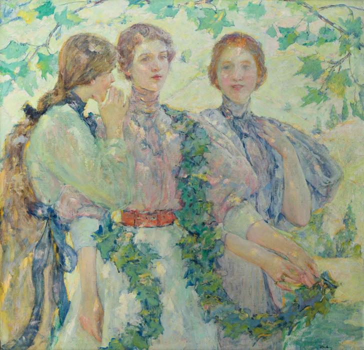 フリー絵画 ロバート・リード作「三人組」