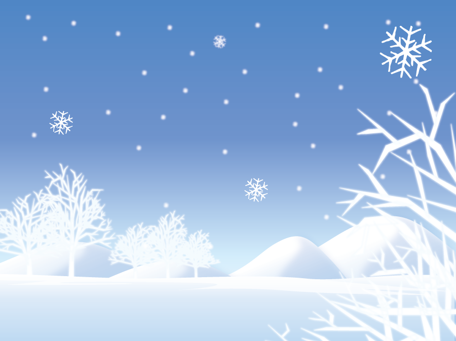 フリーイラスト 一面の雪景色
