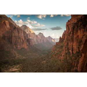 フリー写真, 風景, 自然, 渓谷, 岩山, ザイオン国立公園, アメリカの風景, ユタ州