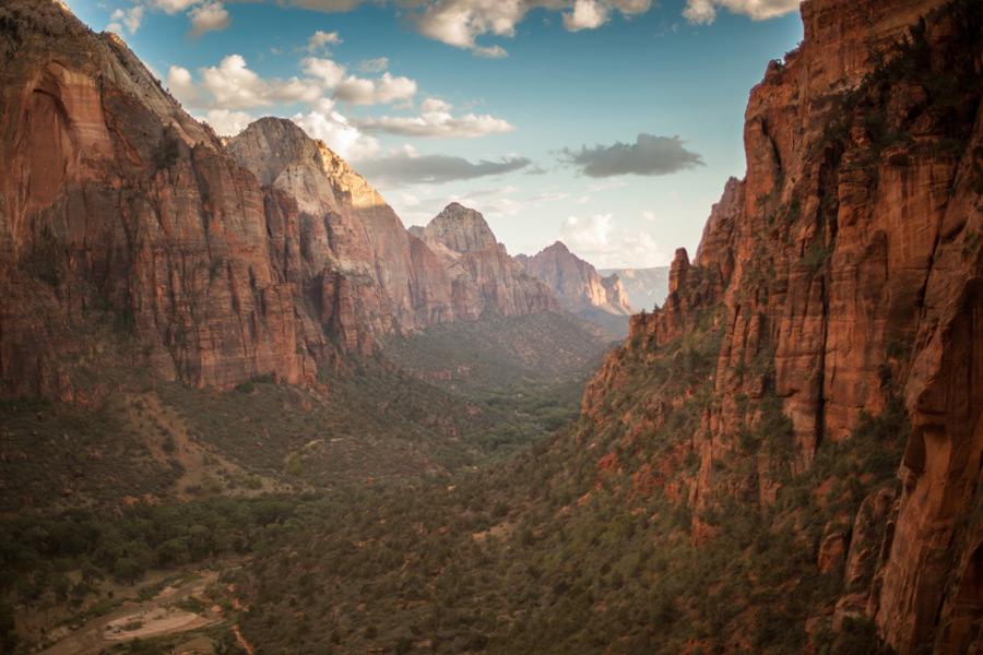 フリー写真 ザイオン渓谷の風景