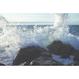 フリー写真, 風景, 自然, 岩, 波しぶき, 海