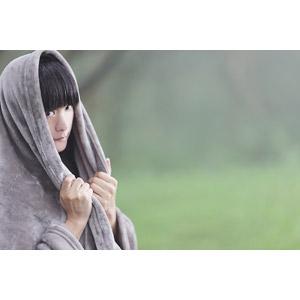 フリー写真, 人物, 女性, アジア人女性, 中国人, 女性(00056), 毛布