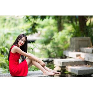フリー写真, 人物, 女性, アジア人女性, 中国人, Neo Li(00040), ドレス