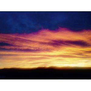 フリー写真, 風景, 自然, 夕暮れ(夕方), 夕焼け, 空, 雲