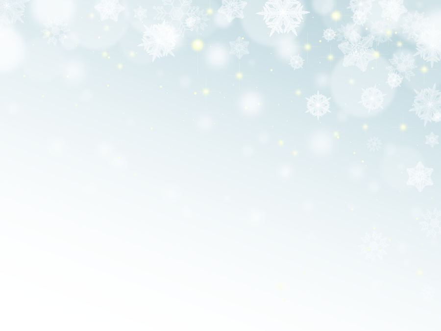 フリーイラスト 雪の結晶と輝く光の背景