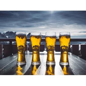 フリー写真, 飲み物(飲料), お酒, ビール, グラス