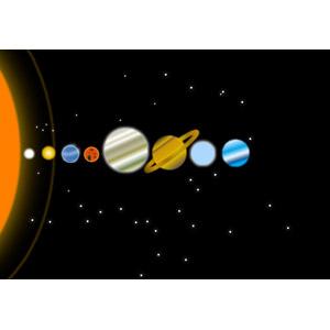フリーイラスト, ベクター画像, AI, 宇宙, 天体, 惑星, 水星, 金星, 地球, 火星, 木星, 土星, 天王星, 海王星, 太陽