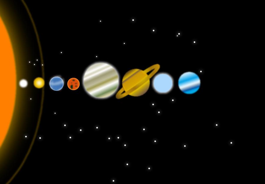 フリーイラスト 太陽系