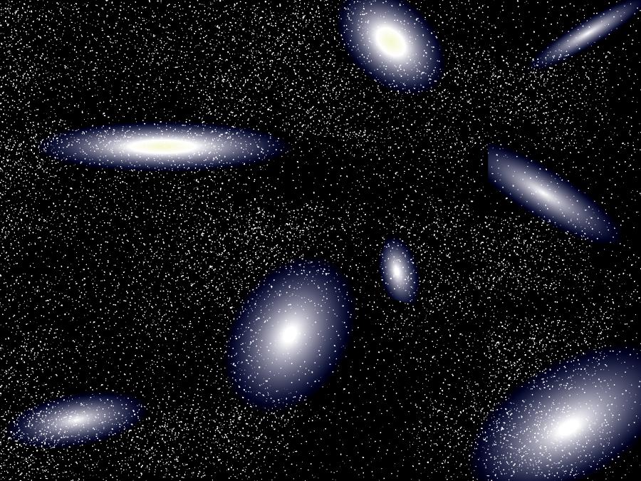 フリーイラスト 銀河団