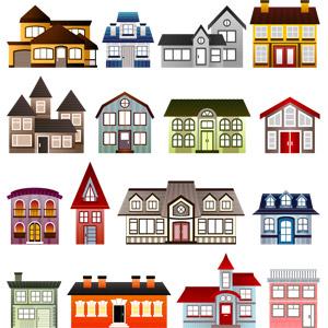 フリーイラスト, ベクター画像, SVG, 建造物, 建築物, 住宅, 家(一軒家)