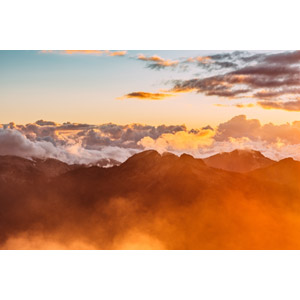 フリー写真, 風景, 自然, 山, 雲海, 雲, 朝焼け, 早朝