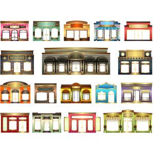 フリーイラスト, ベクター画像, SVG, 建造物, 建築物, お店(店舗)