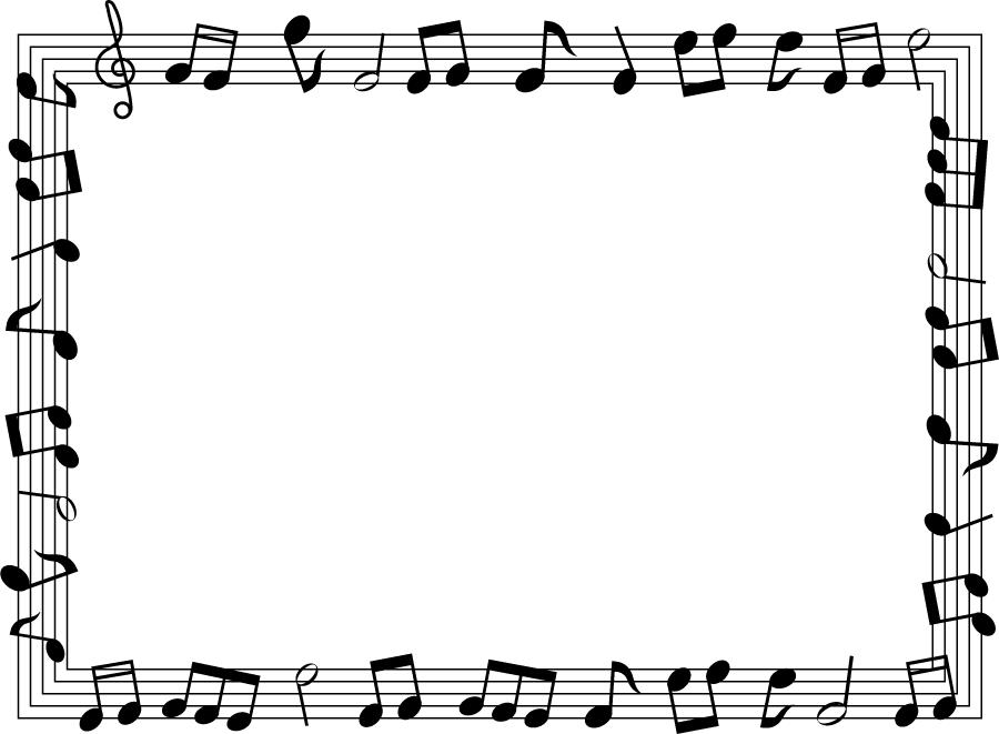 フリーイラスト 楽譜のフレーム