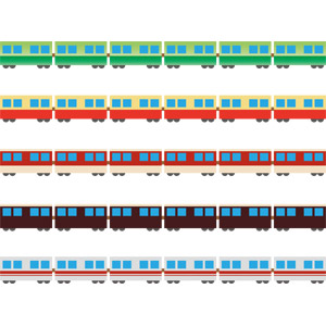 フリーイラスト, ベクター画像, AI, 飾り罫線(ライン), 乗り物, 列車(鉄道車両), 電車
