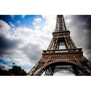 フリー写真, 風景, 建造物, 建築物, 塔(タワー), エッフェル塔, フランスの風景, パリ, 雲