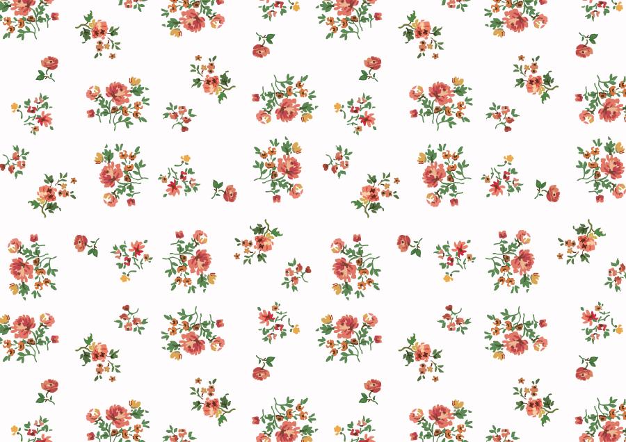 フリーイラスト 小花柄の背景