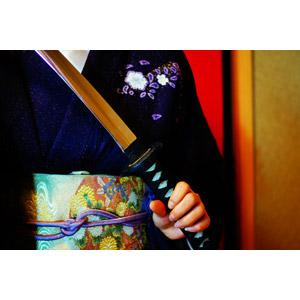 フリー写真, 人物, 女性, 日本人, 和服, 着物, 武器, 刀剣, 日本刀
