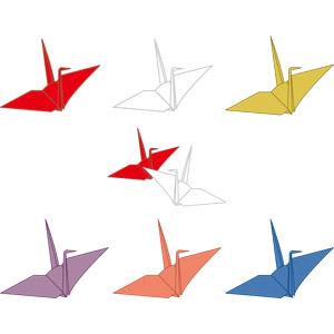 フリーイラスト, ベクター画像, AI, 折り紙, 折り鶴(折鶴), 子供の遊び