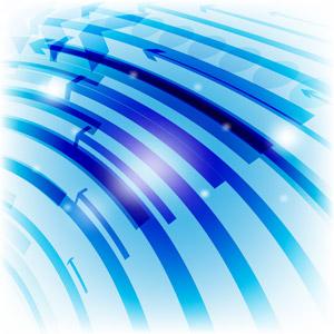 フリーイラスト, ベクター画像, AI, 背景, 抽象イメージ, 矢印, 青色(ブルー)