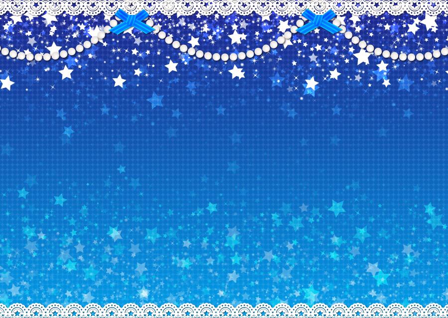 フリーイラスト レース編みと星の飾り背景