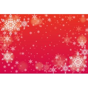フリーイラスト, ベクター画像, EPS, 背景, 雪, 雪の結晶, 冬, クリスマス, 赤色(レッド), 12月