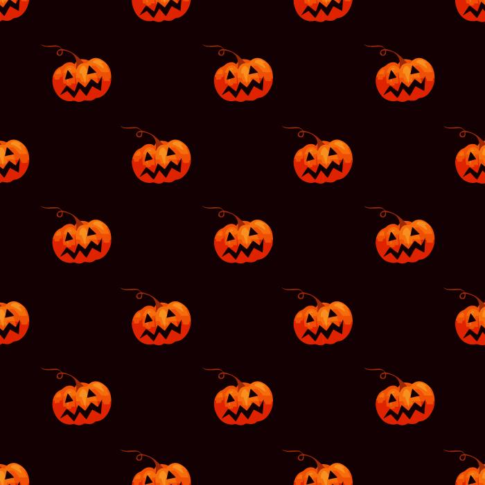 フリーイラスト ジャック・オー・ランタンのパターン背景