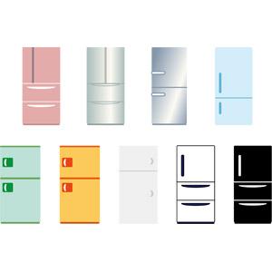 フリーイラスト, ベクター画像, AI, 家電機器, 冷蔵庫