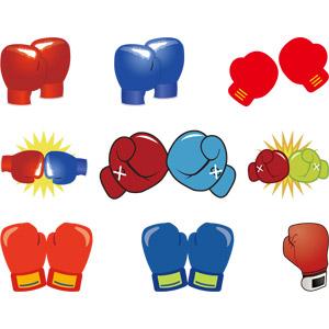 フリーイラスト, ベクター画像, AI, スポーツ, 格闘技, ボクシング, ボクシンググローブ