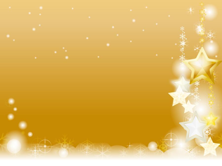 フリーイラスト 雪と星の飾りのクリスマス背景