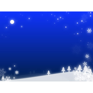 フリーイラスト, ベクター画像, AI, 風景, 夜, 夜空, 月, 満月, 雪, 雪の結晶, 冬, 丘