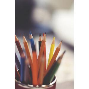 フリー写真, 文房具, 画材, 筆記用具, 鉛筆(えんぴつ), 色鉛筆