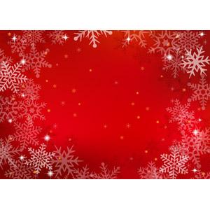 フリーイラスト, ベクター画像, AI, 背景, フレーム, 雪, 雪の結晶, 赤色(レッド), クリスマス, 12月, 冬