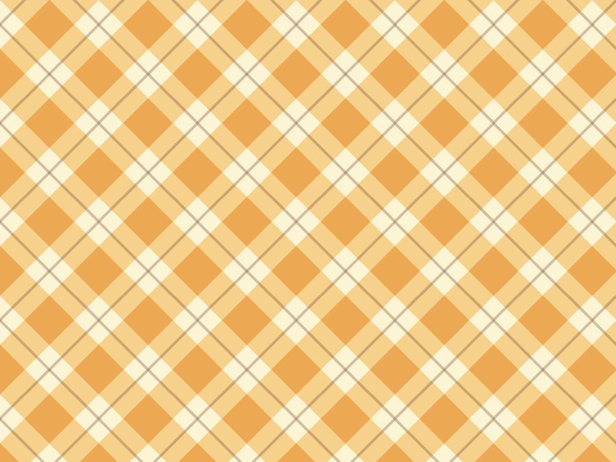 フリーイラスト オレンジ色のタータンチェックの背景