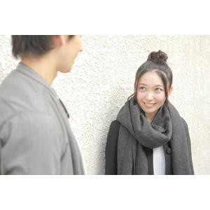 フリー写真, 人物, カップル, 恋人, 女性(00037), 日本人, マフラー, 二人