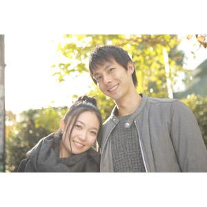 フリー写真, 人物, カップル, 恋人, 女性(00037), 男性(00038), 日本人, マフラー, 二人