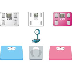 フリーイラスト, ベクター画像, AI, 体重計(ヘルスメーター), 計測機器, ダイエット, 肥満(メタボ)