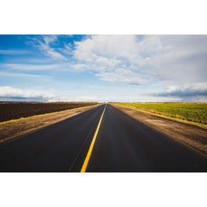 フリー写真, 風景, 建造物, 道路, 田舎, 畑, 雲