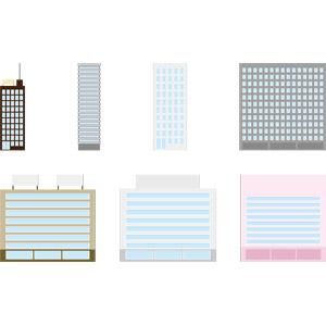 フリーイラスト, ベクター画像, AI, 建造物, 建築物, 高層ビル, 住宅, マンション(団地)