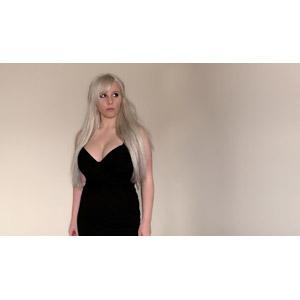 フリー写真, 人物, 女性, 外国人女性, ドレス, 金髪(ブロンド)