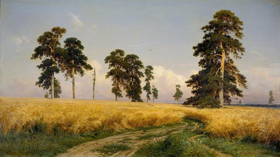 フリー絵画 イヴァン・シーシキン作「ライ麦畑」