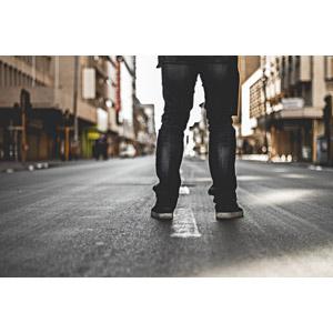 フリー写真, 人体, 脚, 人と風景, 道路, 街並み(町並み)