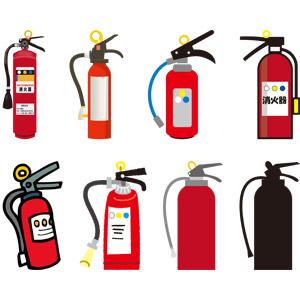 フリーイラスト, ベクター画像, AI, 消防, 消火器, 消防設備, 火事(火災)