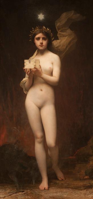 フリー絵画 ジュール・ジョゼフ・ルフェーブル作「パンドラ」