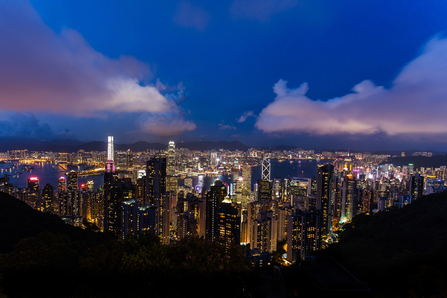 フリー写真 香港の夜景